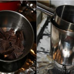 Sufleu de branza dulce cu ciocolata